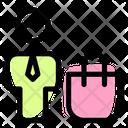 Man Shopping Bag Customer Client Icon