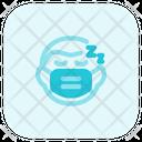 Man Sleeping Emoji With Face Mask Emoji Icon