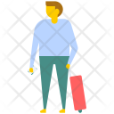 Man Suitcase Icon