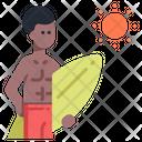 Man Surfboard Surfboard Surfing Board Icon
