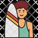 Man Surfer Surfer Surfing Icon