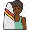 Man Surfer Icon