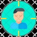 Man User Target Icon