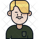 Man Avatar Mustache Icon