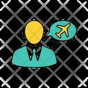 Globe Man Plane Icon