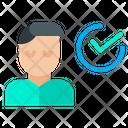 Man User Tasks Icon