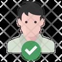 Man Verified Person Man Icon