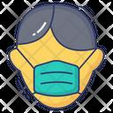 Man Waring Mask Icon