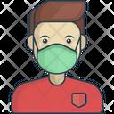 Man wearing medical masks Icon