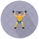 Man Weightlifter Bodyuilder Gym Icon