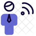 Man Wifi Icon