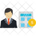 Man With Budget Calculation Budget Icon