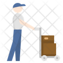 Man with cart Icon