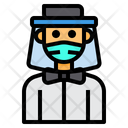 Man With Face Shield Icon