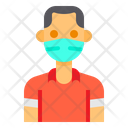Man With Facemask Icon