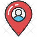 Man with Locator Icon