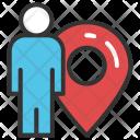 Man with Locator Icon