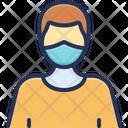 Mask Man Corona Virus Icon