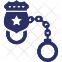 Manacles Police Handcuffs Restrainers Icon