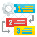 Manage Flowchart Prioritize Sequence Icon