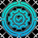 Target Goal Gear Icon