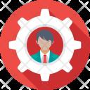 Management Cog Person Icon
