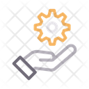 Gear Cogwheel Hand Icon