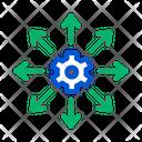 Gear Arrow Business Icon