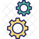 Engineering Gears Mechanical Icon