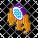 Gear Hand Web Icon