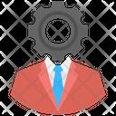 Management Cog Man Icon