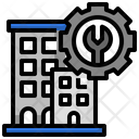 Management Facility Management Office Block Icon
