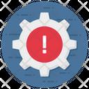 Management Error Setting Error Configuration Error Icon