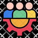 Teamwork Bussiness Management Icon