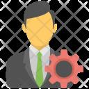 Businessman Industrialist Project Icon