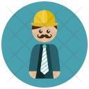 Construction Manager Worker Icon
