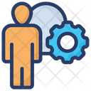 Manager Man Inside Cogwheel Business Manager Icon
