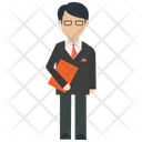 Manager Banker Marketer Icon