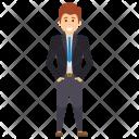 Standing Man Employer Icon