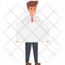 Manager Holding Blank Icon