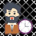 Stopwatch Deadline Employee Icon