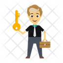 Key User Businessman Icon