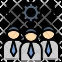 Workmen Staff Teamwork Icon