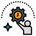 Manage Management Time Icon
