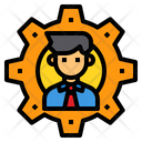 Setting Management Businessman Icon