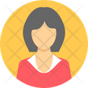 Female Manager Girl Icon