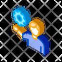Gear Man Business Icon
