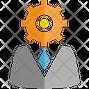 Gear Logic Logic Man Icon