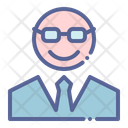 Boss Teacher Professor Icon