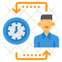 Time Management Manager Clock Icon